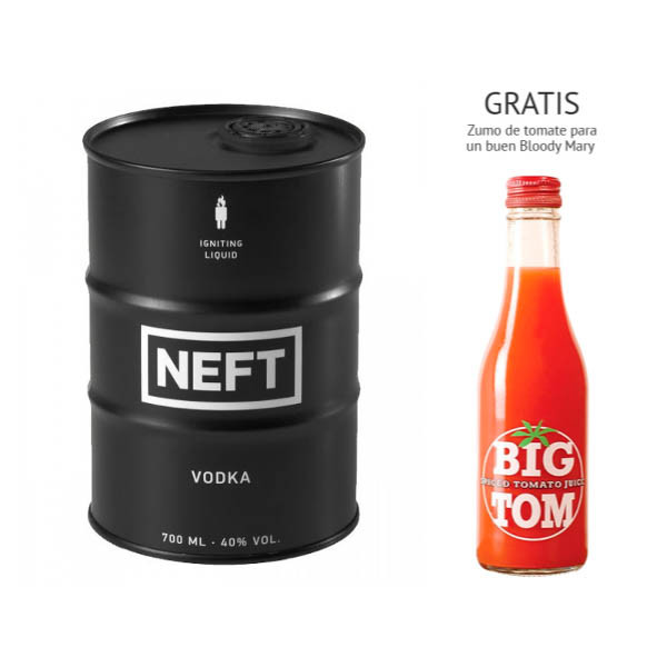 Vodka Neft Black Barrel (40º) + regalo